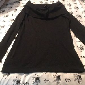 Cowl neck snug fit Ann Taylor long sleeve